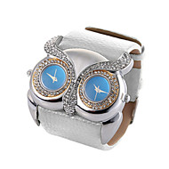 cheap Watch Deals-Animal Shape Clock Double Movement Watches High Quality Owl Watch Women Rhinestone Hours(Assorted Colors)