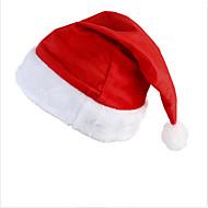 お買い得  クリスマスデコレーション-サンタクロースの衣装のための新たなサンタのベルベットの帽子クリスマスパーティー赤と白の帽子