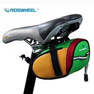 저렴한 -ROSWHEEL® 자전거 가방 0.8L자전거 새들 백 방수 / 방수 지퍼 / 충격방지 / 착용할 수 있는 싸이클 가방 600D 폴리에스터 싸이클 백 캠핑 & 하이킹 / 사이클링 15*7*7.5