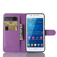 Недорогие Чехлы и кейсы для Galaxy A8-Кейс для Назначение SSamsung Galaxy Кейс для  Samsung Galaxy Бумажник для карт со стендом Флип Магнитный Чехол Сплошной цвет Кожа PU для