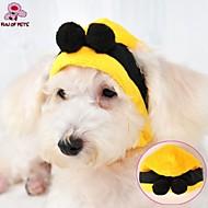 halpa Koiran Korut & Asusteet-Kissa Koira Asut Huivit ja hatut Koiran vaatteet Cosplay Häät Halloween Keltainen Asu Lemmikit
