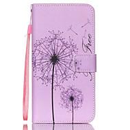 Для Кейс для  Samsung Galaxy Чехлы панели Бумажник для карт Кошелек со стендом Флип Чехол Кейс для одуванчик Искусственная кожа для
