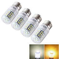 7W E14 / E26/E27 LED kukorica izzók T 48 SMD 2835 600 lm Meleg fehér / Hideg fehér Dekoratív AC 85-265 / 9-30 V 4 db.
