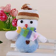abordables Adornos de Navidad-2pcs navidad lindo muñeco de nieve colgante de color al azar