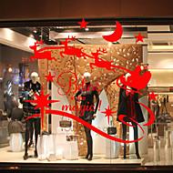 abordables Adornos de Navidad-Animal Moderno Adhesivo para Ventana Material decoración de la ventana Comedor Dormitorio Oficina Sala de niños Salón Baño Shop / Cafe