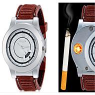 Homens Relógio de Pulso Único Criativo relógio Quartzo PU Banda Criativo Preta Marrom