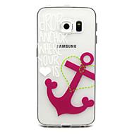 tanie Galaxy S6 Edge Plus Etui / Pokrowce-Na Samsung Galaxy Etui Etui Pokrowce Wzór Etui na tył Kılıf Kotwica Poliuretan termoplastyczny na Samsung Galaxy S6 edge plus S6 edge S6
