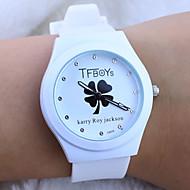 tanie Modne zegarki-Dziecięce Modny Kwarcowy Guma Pasmo Kreskówka Zegarek z napisem Biały Black Niebieski Różowy