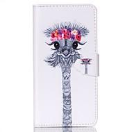 Χαμηλού Κόστους Galaxy S5 Mini Θήκες / Καλύμματα-tok Για Samsung Galaxy Samsung Galaxy Θήκη Θήκη καρτών Πορτοφόλι με βάση στήριξης Ανοιγόμενη Πλήρης Θήκη Ζώο PU δέρμα για S6 S5 Mini S5