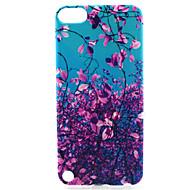 baratos -capa macia do tpu do teste padrão da pintura da árvore da flor para o ipod touch 5 capas de ipod / capas