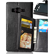 お買い得  Samsung 用 ケース/カバー-ケース 用途 Samsung Galaxy Samsung Galaxy ケース ウォレット / カードホルダー / スタンド付き フルボディーケース ソリッド PUレザー のために J5 / J1 / Grand Prime