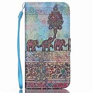Для Кейс для  Samsung Galaxy Кошелек / Бумажник для карт / со стендом / Флип Кейс для Чехол Кейс для Слон Искусственная кожа SamsungS6