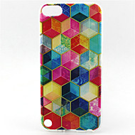 pattern pintura diamante TPU soft case para o iPod touch 5