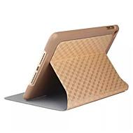 お買い得  クリアランスセール-ケース 用途 iPadのミニ4 スタンド付き オートオン/オフ フルボディーケース 幾何学模様 PUレザー のために iPad Mini 4