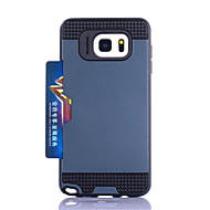 For Samsung Galaxy Card Holder Case Back Cover Case Armor PC Samsung Note 5 Note 4 Note 3