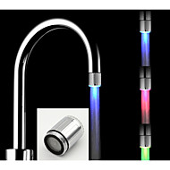 cheap Kitchen & Dining-Temperature Control Luminous Glow Light-up LED Water Faucet Shower Tap Water Nozzle Head Light Bathroom