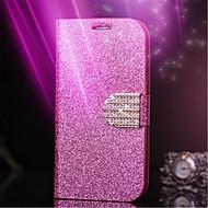 Для Кейс для  Samsung Galaxy Стразы / Флип Кейс для Чехол Кейс для Сияние и блеск Искусственная кожа Samsung S6 edge / S6 / S5 / S4 / S3