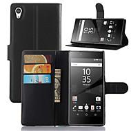 preiswerte Handyhüllen-Hülle Für Sony Z5 Sony Xperia M4 Aqua Sony Xperia Z5 Compact Sony Xperia Z5 Sony Hülle Kreditkartenfächer Geldbeutel mit Halterung