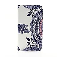 Mert Samsung Galaxy tok Kártyatartó / Pénztárca / Állvánnyal / Flip Case Teljes védelem Case Elefánt Műbőr Samsung S5 / S4 / S3