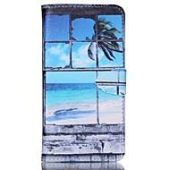 Недорогие Чехлы и кейсы для Galaxy S6 Edge Plus-Кейс для Назначение SSamsung Galaxy Кейс для  Samsung Galaxy Бумажник для карт Кошелек со стендом Флип Чехол Пейзаж Кожа PU для S6 edge