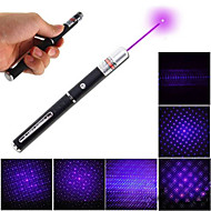 405Nm Purple Laser Pen With Star Cap 5Mw Purple Glitter Black