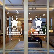 abordables Adornos de Navidad-Animal Moderno Adhesivo para Ventana, PVC/Vinilo Material decoración de la ventana Comedor Dormitorio Oficina Sala de niños Salón Baño