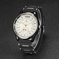 preiswerte -V6 Herren Armbanduhr Quartz Japanischer Quartz Caucho Band Schwarz Weiß Schwarz