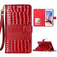 billige -Etui Til Samsung Galaxy Samsung Galaxy Etui Kortholder Lommebok med stativ Flipp Heldekkende etui Geometrisk mønster PU Leather til S7
