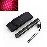 abordables Linternas-2en1 303 5mW 650nm puntero impermeable rojo láser de alta potencia funda ajustable