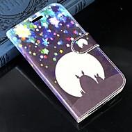 Недорогие Чехлы и кейсы для Galaxy Ace 4-Для Кейс для  Samsung Galaxy Бумажник для карт / Кошелек / со стендом / Флип Кейс для Чехол Кейс для Мультяшная тематикаИскусственная