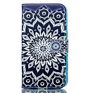 Назначение Кейс для  Samsung Galaxy Чехлы панели Бумажник для карт Кошелек со стендом Флип С узором Чехол Кейс для МандалаИскусственная