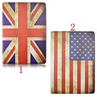 voordelige iPad-hoesjes/covers-hoesje Voor iPad Mini 4 met standaard Origami 360° rotatie Volledig hoesje Vlag PU-nahka voor iPad Mini 4