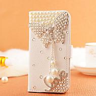Для Кейс для  Samsung Galaxy Бумажник для карт / Стразы / Флип Кейс для Чехол Кейс для Бабочка Искусственная кожа SamsungS7 edge / S7 /