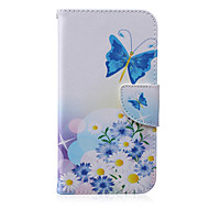 cheap Cases / Covers for Samsung-Case For Samsung Galaxy Samsung Galaxy Case Card Holder Wallet with Stand Flip Pattern Full Body Cases Butterfly PU Leather for J5 J3 J2