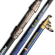 Caña de pescar Caña telescópica de giro Aluminio / Carbón 210,240,270,300,360 MPesca de Mar / Pesca de baitcasting / Pesca al spinning /