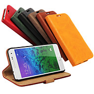 お買い得  携帯電話ケース-DE JI ケース 用途 Samsung Galaxy Samsung Galaxy ケース ウォレット / カードホルダー / スタンド付き フルボディーケース ソリッド PUレザー のために Alpha