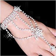 billige -Dame Sjal Armbånd Ringarmbånd kostyme smykker Strass Sølvplett Fuskediamant Legering Stjerne Formet Smykker Til Fest Daglig