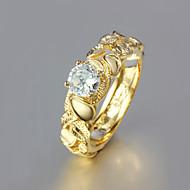 Женский Классические кольца бижутерия Позолота 18K золото Бижутерия Назначение Свадьба Для вечеринок Повседневные