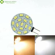 billiga -SENCART LED-spotlights 700-900 lm G4 MR11 15 LED-pärlor SMD 5630 Bimbar Varmvit Naturlig vit 12 V 24 V 9-30 V