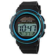 SKMEI Муж. Спортивные часы Наручные часы Цифровой LED Календарь Секундомер Защита от влаги тревога Солнечная энергия Спортивные часы PU