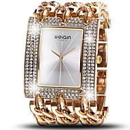 WeiQin Damen Modeuhr Simultan? Diamant Uhr Quartz Wasserdicht Imitation Diamant Legierung Band Luxuriös Silber Gold Rotgold1 # 2 # 3 # 4