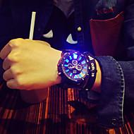 Χαμηλού Κόστους Επίσημα ρολόγια-Ανδρικά Μοναδικό Creative ρολόι Ρολόι Καρπού Χαλαζίας LED σιλικόνη Μπάντα Φυλαχτό Μαύρο