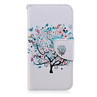 Недорогие Чехлы и кейсы для Galaxy J1-Кейс для Назначение SSamsung Galaxy Кейс для  Samsung Galaxy Бумажник для карт Кошелек со стендом Флип С узором Чехол дерево Кожа PU для