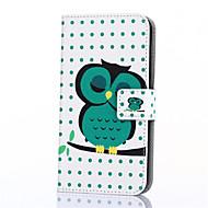Недорогие Чехлы и кейсы для Galaxy Ace 4-Кейс для Назначение SSamsung Galaxy Кейс для  Samsung Galaxy Кошелек / Бумажник для карт / со стендом Чехол Сова Кожа PU для On 7 / On 5 / J3