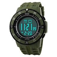 Недорогие Фирменные часы-Муж. Спортивные часы / Наручные часы Будильник / Календарь / Секундомер PU Группа Черный / Защита от влаги / LED