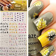 abordables -1 pcs Autocollants 3D pour ongles Bijoux pour ongles Autocollant de transfert d'eau Manucure Manucure pédicure Punk / Mode Quotidien / PVC / Bijoux à ongles