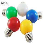 お買い得  LED ボール型電球-5個 1W 50-100lm E26 / E27 LEDボール型電球 G45 8 LEDビーズ SMD 2835 装飾用 ホワイト グリーン イエロー ブルー レッド 220-240V
