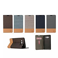 Varten Samsung Galaxy kotelo Korttikotelo / Tuella / Flip Etui Kokonaan peittävä Etui Yksivärinen Tekonahka SamsungOn 5 / J2 / J1 Ace /
