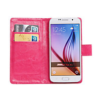 Недорогие Galaxy Core 2-Кейс для Назначение SSamsung Galaxy Кейс для  Samsung Galaxy Бумажник для карт со стендом Флип Поворот на 360° Чехол Сплошной цвет Кожа PU