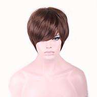 Бежевый Естественные волны Искусственные волосы Без шапочки-основы Парик из натуральных волос Карнавальные парики